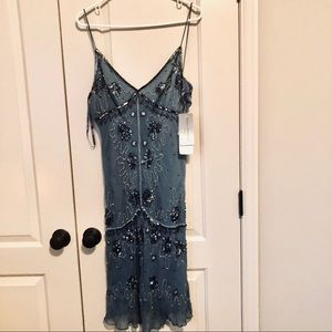 Papell Boutique Evening Strappy Beaded Dress NWT